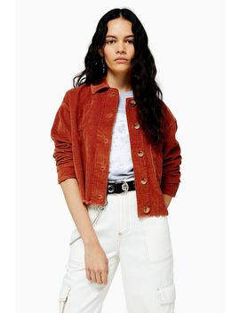 Rust Corduroy Shacket by Topshop