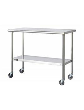 Eco Storage 48 In. Nsf Stainless Steel Table With Wheels by Trinity