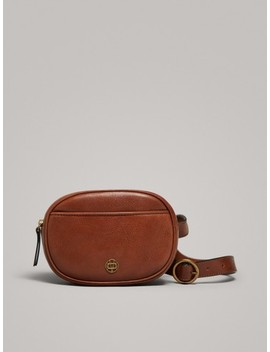 Leather Belt Bag by Massimo Dutti