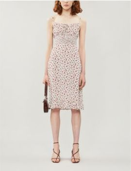 Genie Floral Print Crepe Dress by Reformation