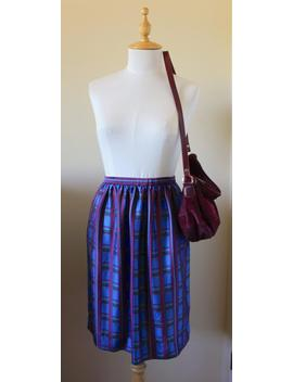 80s Patterned Satin Skirt With Pockets by Etsy