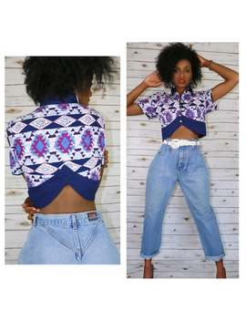 Cotton 80s Crop Top by Etsy