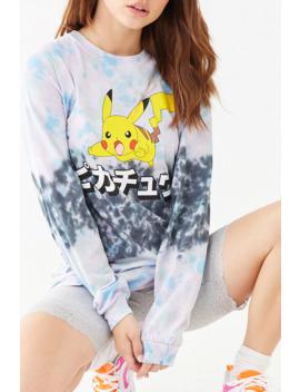 Pokemon Tie Dye Long Sleeve Tee by Forever 21