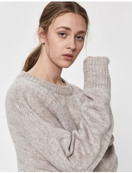 Isa Oversized Heather Sweater In Oat by Need