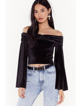 So Touchy Velvet Off The Shoulder Top by Nasty Gal