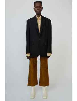 Single Breasted Suit Jacket Black by Acne Studios