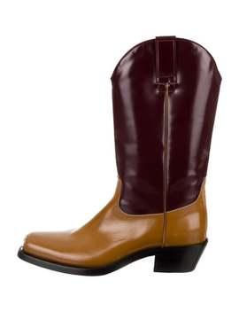 Spazzolato Bicolor Cowboy Boots by Calvin Klein 205 W39 Nyc