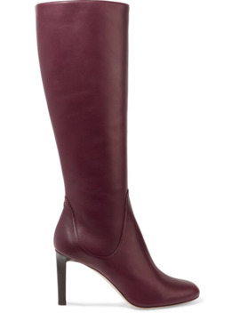 Tempe 85 Leather Knee Boots by Jimmy Choo