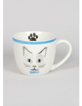 Cat Print Mug (11cm X 9cm) by Matalan