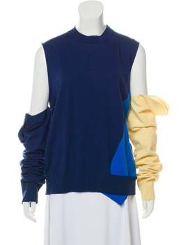 Lightweight Colorblock Sweater by Calvin Klein 205 W39 Nyc