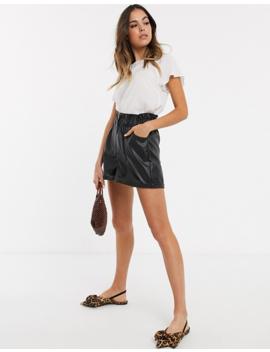 New Look – Weißes T Shirt Mit Flatterärmeln by Asos