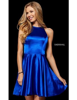 High Neck Homecoming Dress With Back Cut Out by Promgirl