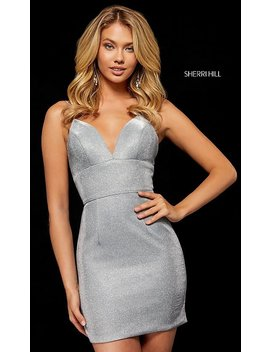 Short Metallic Sherri Hill Homecoming Dress by Promgirl