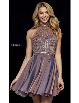 Fit And Flare Sherri Hill Hoco Dress With Beading by Promgirl