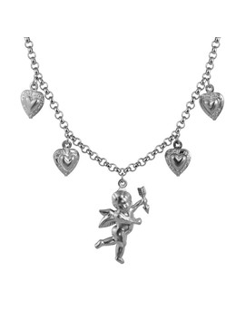 Zhuyou New Fashion Titanium Steel Stainless Steel Love Angel Wing Love Heart Bell Clavicle Chain Necklace by Ali Express.Com