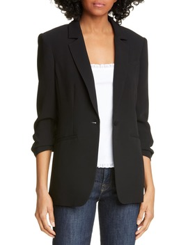 Khloe Ruched Sleeve Blazer by Cinq À Sept