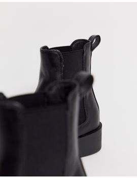 New Look – Flache Chelsea Stiefel In Schwarz by Asos