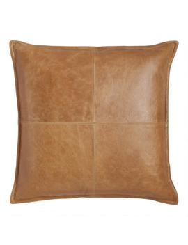 Tan Leather Kona Throw Pillow by World Market