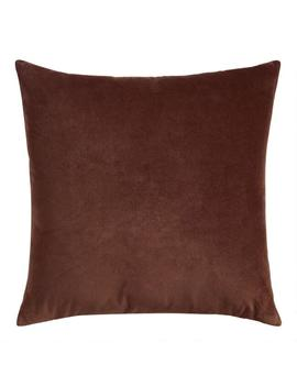 Chocolate Velvet Throw Pillow by World Market