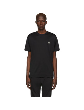 Black Logo T Shirt by Stone Island