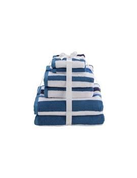 Argos Home 6 Piece Towel Bale   Sea Stripe by Argos