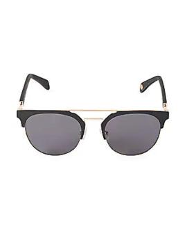 52 Mm Browline Cat Eye Aviator Sunglasses by Balmain