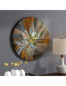 Symmetrical Fractal Flower Wall Clock by East Urban Home