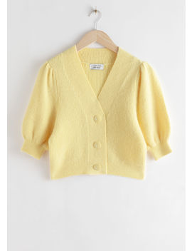 Puff Sleeve Wool Blend Cardigan by & Other Stories