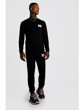 Man Worldwide Sweater Tracksuit by Boohoo Man