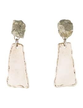 Pyrite Hammered Dangle Earrings by Proenza Schouler