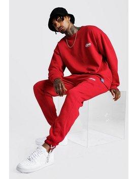 Man Loose Fit Sweatshirt & Slim Fit Jogger by Boohoo Man