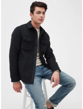 Wool Blend Shirt Jacket by Gap