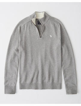 The A&F Cotton Cashmere Half Zip by Abercrombie & Fitch