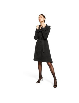 Women's Snakeskin Long Sleeve Front Button Down Trench Coat   Altuzarra For Target Black by Down Trench Coat