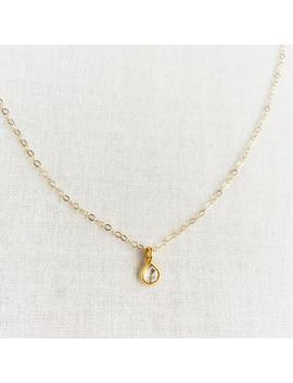 14k Or 18k Diamond Necklace, Bezel Set Diamond Necklace, Tiny Diamond Necklace, Rose Cut Diamond Necklace, Small Diamond Necklace, 14 Kn68 by Etsy