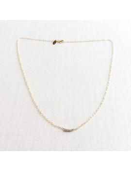 Raw Diamond Necklace, Rough Diamond Necklace, Tiny Diamond Necklace, Diamond Necklace, Tiny Gold Necklace, Raw Diamond Gold Necklace, Gbn4 by Etsy