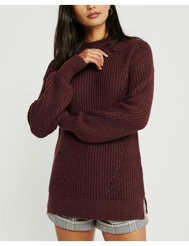Shaker Stitch Mockneck Sweater by Abercrombie & Fitch