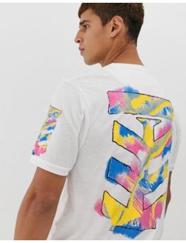 Le Breve – Langes T Shirt Mit Schablonendruck Hinten by Asos