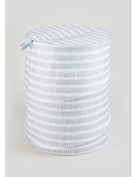 Stripe Pop Up Laundry Hamper (123cm X 53cm) by Matalan