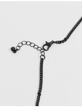 Bershka – 2er Set Halsketten Mit Anhänger In Schwarz by Asos