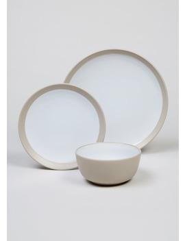 12 Piece Stoneware Set by Matalan
