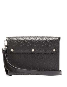 Tb Embossed Leather Cross Body Bag by Burberry