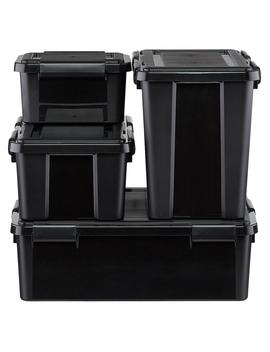 Black Weathertight Totes by Container Store