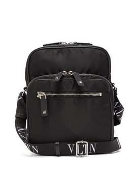 Vltn Technical Canvas Messenger Bag by Valentino