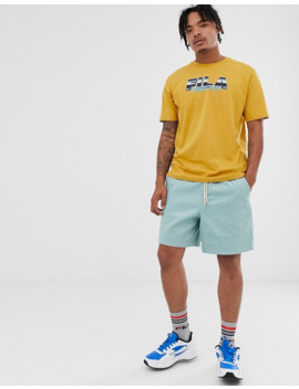 Fila Acer Logo T Shirt In Beige Exclusive At Asos by Fila