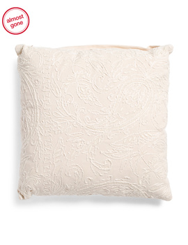 20x20 Embroidered Paisley Pillow by Tj Maxx