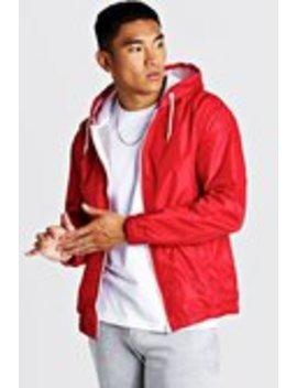 Hooded Zip Through Jacket by Boohoo Man