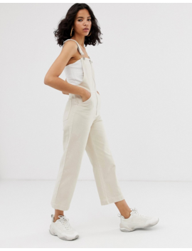 Asos White Zip Front Crop Overall by Asos White