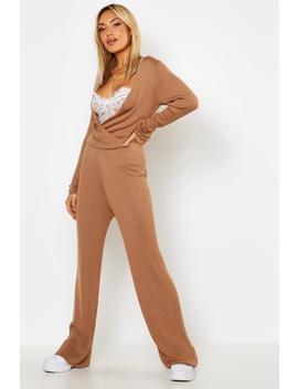 Premium Rib Knit Jumpsuit by Boohoo