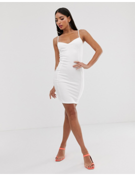 Fashionkilla Tall Going Out Cami Dress With Seam Detail In White by Fashionkilla
